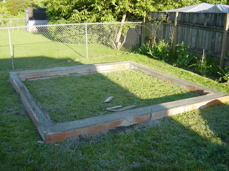 how to make a foundation for a shed
